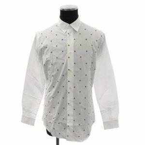 シャツ クローバー ホワイト メンズサイズ39 長袖 白 トップス
