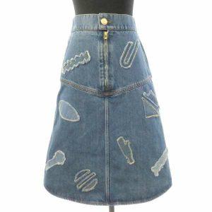 デニムスカート ブルー レディースサイズ38