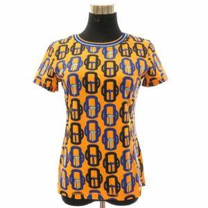 エルメス Tシャツ 半袖 モダンなバックル Bouclerie moderne サイズ36