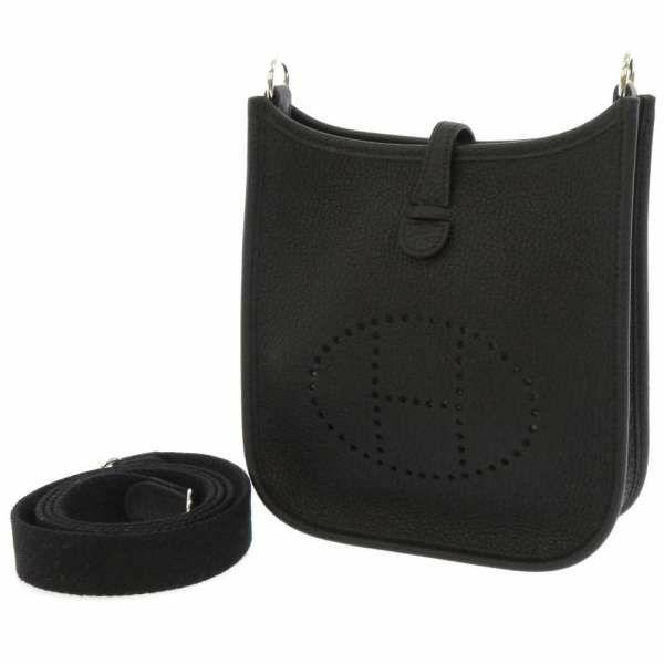 エルメス ショルダーバッグ エブリンTPM ブラック/シルバー金具